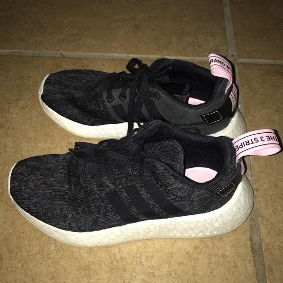 8644746e7 adidas Shoes - NMD R2 Black Wonder Pink